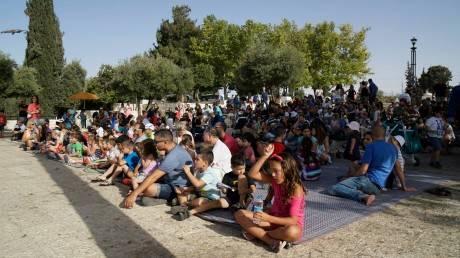 מתוך אירוע שבת צהריים עבור 'ירו-שלם' בטיילת ארמון הנציב צילום: דורין יחזקאל